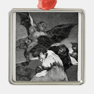 Squealers? by Francisco Goya Square Metal Christmas Ornament