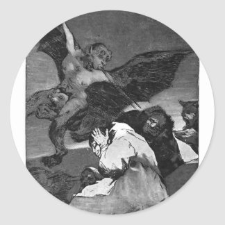 ¿Squealers de Francisco Goya-? Pegatina Redonda