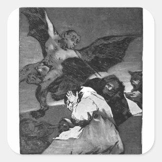 ¿Squealers de Francisco Goya-? Calcomanía Cuadradas