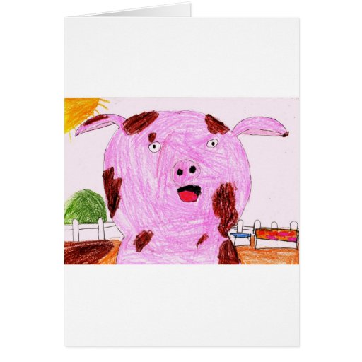 squealing pig card