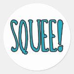 Squee! Classic Round Sticker