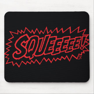 Squee! Red Mouse Pad