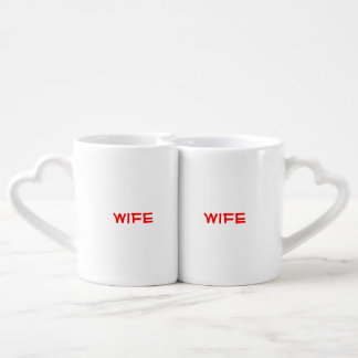 """""""Squee"""" Wife & Wife Couples Mug set"""
