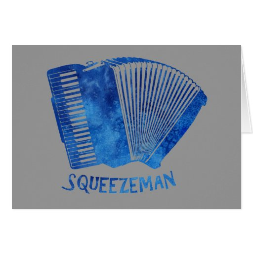 Squeeze Man Greeting Card