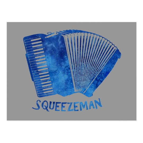 Squeeze Man Postcard