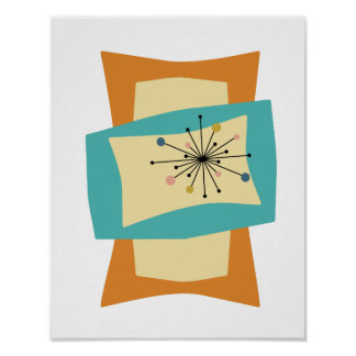Mid Century Modern Posters Zazzle