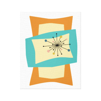 Squeeze Mid Century Modern Wrapped Canvas Print