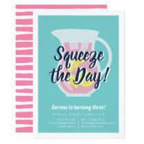 Squeeze the Day Lemonade Birthday Party Invitation