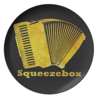 Squeezebox Dinner Plate