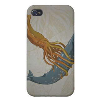 Squid and Whale Design IPhone Case Cases For iPhone 4