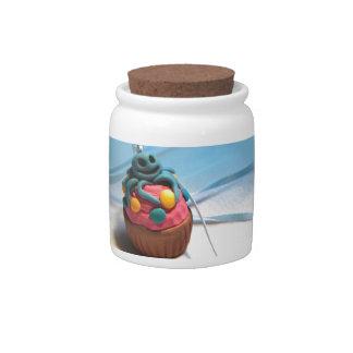 Squid Cupcake Candy Jars