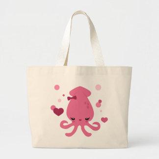Squid Cutie Large Tote Bag