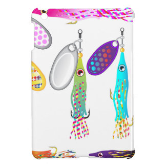Squid Fishing lure Spinners Vectors Trolling lure iPad Mini Cover