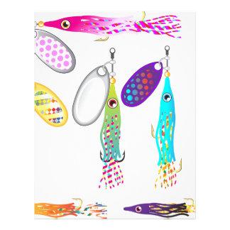 Squid Fishing lure Spinners Vectors Trolling lure Letterhead