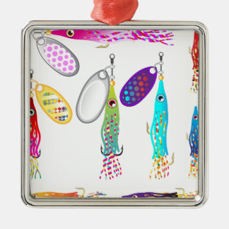 Squid Fishing lure Spinners Vectors Trolling lure Metal Ornament