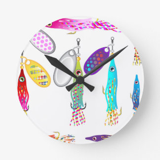 Squid Fishing lure Spinners Vectors Trolling lure Round Clock