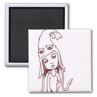 squid for brains 2 inch square magnet