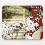 Squid n skull mousepad