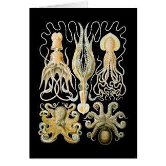 Squid & Octopus Greeting Card