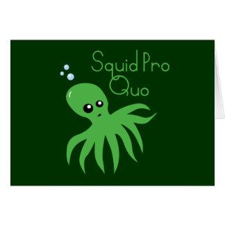 Squid Pro Quo Cards