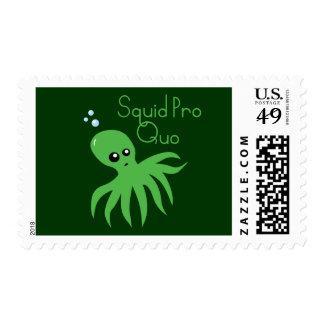 Squid Pro Quo Postage Stamp