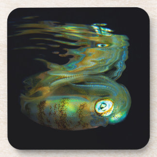 Squid Reflection Hard Plastic Coasters (set of 6)