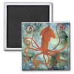 squid refrigerator magnet