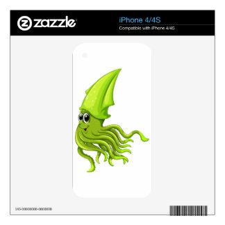 Squid iPhone 4S Skins
