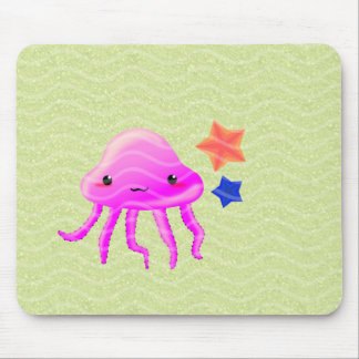 squid star fish hot summer mouse pads