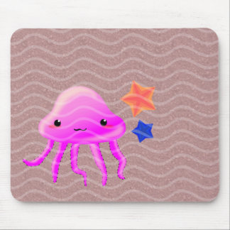 squid star fish hot summer mouse pad