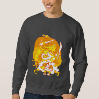 squidfaced clear sweatshirt