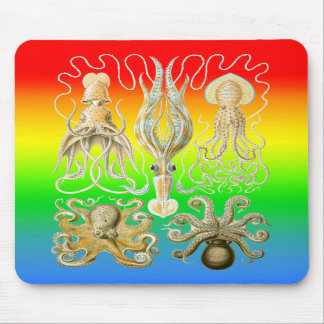 Squids and Octopods Mousepads