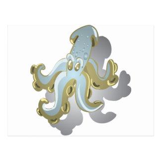 Squidy Postcard