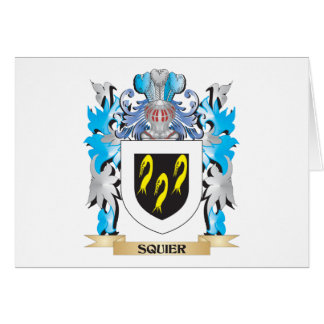 Squier Coat of Arms - Family Crest Card