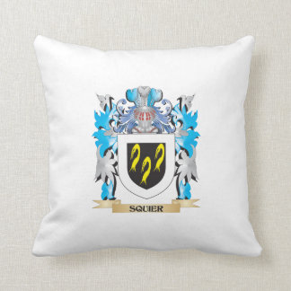 Squier Coat of Arms - Family Crest Throw Pillows