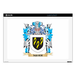 Squier Coat of Arms - Family Crest Laptop Skin