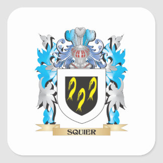 Squier Coat of Arms - Family Crest Square Stickers