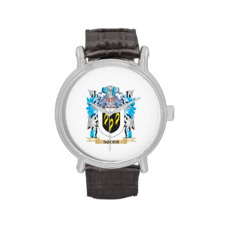 Squier Coat of Arms - Family Crest Wrist Watches