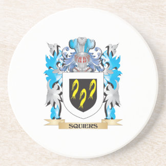 Squiers Coat of Arms - Family Crest Beverage Coasters