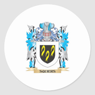 Squiers Coat of Arms - Family Crest Round Stickers