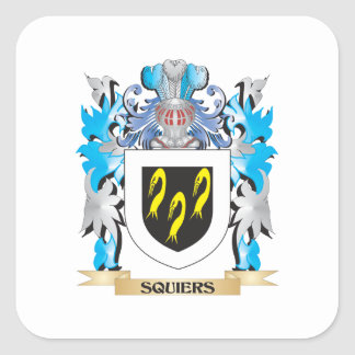 Squiers Coat of Arms - Family Crest Square Sticker