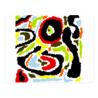 Squiggle Abstract Design Postcard
