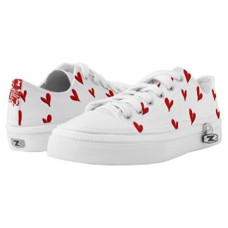 Squiggle and Hearts Low-Top Sneakers