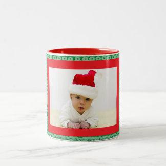 Squiggle and Photo Two-Tone Coffee Mug