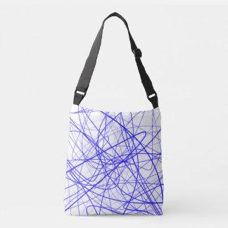 Squiggle Blue Crossbody Bag