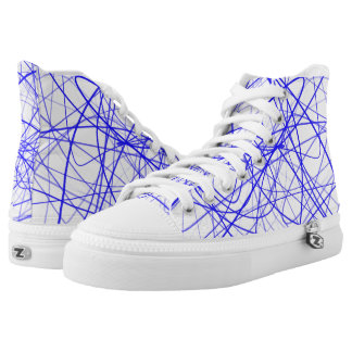 Squiggle Blue High-Top Sneakers