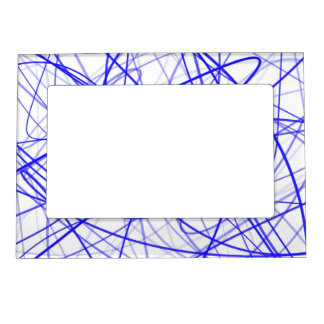 Squiggle Blue Magnetic Photo Frame