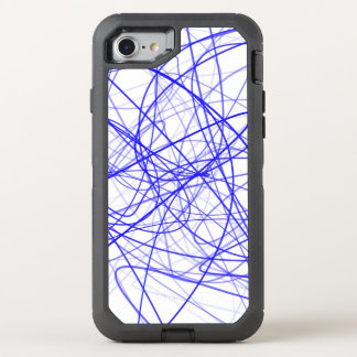 Squiggle Blue OtterBox Defender iPhone 8/7 Case