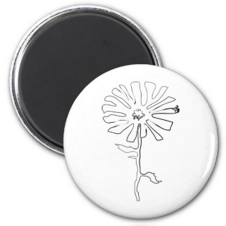 squiggle flower magnet