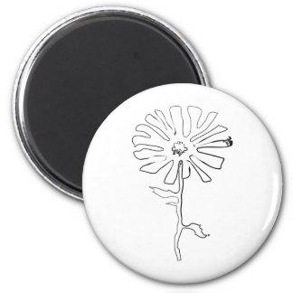 squiggle flower fridge magnets